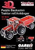 Tronico 30020 - 3D Puzzle Baukasten - Traktor Case IH Puma 240 CVX mit Anhänger, Maßstab 1:32,...