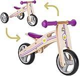 BIKESTAR Mini Kinder Laufrad Holz Lauflernrad mit DREI Rädern für Jungen und Mädchen ab 1 - 1,5...