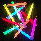 25x Power Knicklichter Bulk | 150x15 mm FETT und HELL Leuchtstäbe | 6 Farben Öse | Knicklichter...