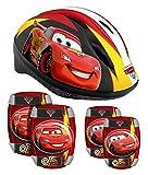 Kinder Fahrrad Helm Protektoren Ellenbogen Knie Schützer Schoner Disney CARS Mcqueen COMBOSET STAMP