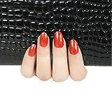 Pixnor Nagelkunst Aufkleber Dekorationssets Für Nageldesign, Selbstklebend, 5 Blatt (Rot)