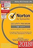Norton Security Premium Antivirus Software 2018 / Zuverlässiger Virenschutz (Jahres-Abonnement)...
