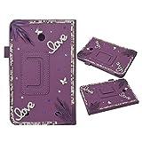 EVTECH (TM) 3D Handmade Bling Fall für LG G Pad 8.0 Smart-Shell Case - Ultra Slim Abdeckung mit...