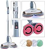 Sichler Haushaltsgeräte Bodenpoliermaschine: Fußboden-Poliermaschine mit Teleskop-Griff,...