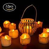 LED Kerzen, innislink Teelichter 12pcs LED Flammenlose Kerzen mit Timerfunktion Flackern Elektrische...