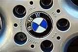 4 x BMW-Staubdeckel für Radkappen, 68 mm, mit Logo in Blau-Weiß, für Serien 1 3 4 5 6 7 8 X1 X3...