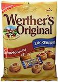 Werther's Original Sahnebonbons zuckerfrei - Schmackhafte Karamellbonbons ohne Zucker zum Naschen...