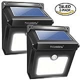 4Pack 28 LEDs Solarleuchten für Aussen, Neloodony [400 Lumen] Superhelle mit Bewegungsmelder...