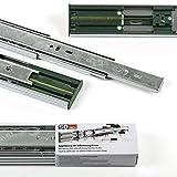 1 Paar (2 Stück) SO-TECH Vollauszüge mit SoftClosing H 45 / L 350 mm Schubkastenauszüge...