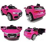Audi Q5 Quattro SUV Elektro Kinderauto Kinderfahrzeug Ride-On 12V Kinder Elektroauto (Pink/Rosa)