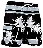 GUGGEN MOUNTAIN Herren Badeshorts Beachshorts Boardshorts Badehose Palmen Beach *High Quality Print*...