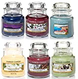 Yankee Candle Mini-Duftkerzen im Glas, Geschenkset mit 6 verschiedenen klassischen Duftkerzen