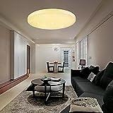 VINGO50W LED Deckenleuchte Warmweiß Sternenhimmel Rund Deckenlampe Wand-Deckenleuchte 4750lm...