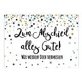 Große XXL Abschiedskarte mit Umschlag/DIN A4/Zum Abschied alles Gute - Wir werden Dich...