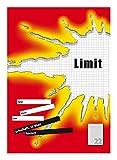 LIMIT Schulheft 10er Pack A4 Lineatur 22 - kariert 16 Blatt ohne Rand rot