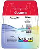 Canon CLI-521 Tintenpatronen Multipack (cyan, magenta, gelb)