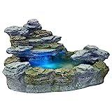 STILISTA Mystischer Gartenbrunnen 'OLYMP' in Steinoptik 100x80x60cm groß Springbrunnen inkl. Pumpe...