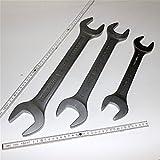 Spar-Set: 3 teiliger Satz Doppel-Maulschlüssel Gabelschlüssel, Schlüsselweite 34 x 36, 41 x 46,...