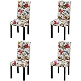 Festnight 4 Stück Esszimmerstuhl Küchenstühle Stuhlgruppe Essstuhl Stuhl Esszimmermöbel aus Holz...
