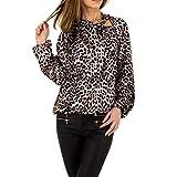 Ital-Design Damen Satin Bluse Emmash Paris Gr. L Leo Multi