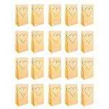 10er Set Weiße Papierlaternen Kerzentüten Lichttüten mit Herz Design von Kurtzy - Herzstück...