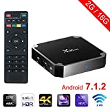 Sawpy X96 Mini Android TV Box Android 7.1 2GB +16GB 4K Smart TV Box 64bit Quad Core CPU with Wifi