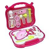 Arztkoffer Kinder mit Krankenschwester Zubehör Arzt Rollenspiele Rosa Geschenk Arztkoffer Spielzeug...