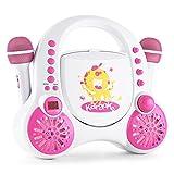 auna Rockpocket A-WH • Kinder Karaoke Anlage • Karaoke Player • Karaoke Set • 2 x...