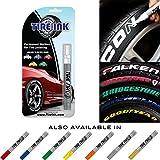Tire Tinte Malen Stift für KFZ Reifen Permanent und wasserfest 8Farben weiß rot orange blau...
