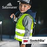 Salzmann 3M Warnweste für Kinder mit Reißverschluss, Vier Farbe und 3 Größe