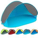Pop Up Strandmuschel mit Boden UV-Schutz 40 oder 60 - 220 x 120 x 100 - cm in verschiedenen Farben...