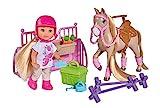 Simba 105733274 Evi Love Holiday Horse Spielpuppe, bunt