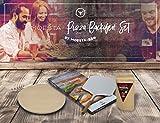 Moesa-BBQ Pizza-Set No.1 für den Backofen (Stein, Schieber, Zauberwürze)