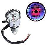 Universal Motorrad LED Licht Dual Tachometer Tacho Kilometerzähler Kontrolllampe...