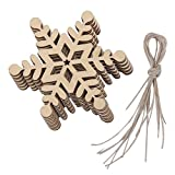 10x Schneeflocke Holzverzierung Weihnachtsbaum Haengende Verzierung Dekor