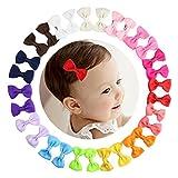 HBF 30 stk mehrfarbig Haarspange Haarband Accessoire Fliege Schleife mit Blumen Deko für Kinder...