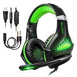 Gaming Headset für PS4 PC Xbox One Computer, Samoleus Stereo 3.5 mm Kabelgebundenes Gaming...