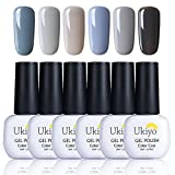 Ukiyo Gel Polish 6UV-LED Soak Off Glitter Nagellack Farben Kollektionen Salon Manicure LACQUERS...