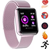 Bluetooth Smartwatch, Fitness Uhr Intelligente Armbanduhr Fitness Tracker Smart Watch Sport Uhr mit...