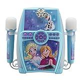 ekids FR-615 Disney Frozen Karaoke Anlage für Kinder mit 2 Mikrofonen Maschine blau