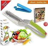 Angebot FabQuality Clever Cutter Messer 2-in-1-Cutter Messer Küche Werkzeug Slicer Dicer Gemüse...