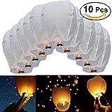 Pixnor Himmel-Laterne 10ST Oval Sky Laterne chinesische Kongming Laterne wollen Lampen für Hochzeit...