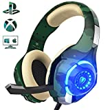 Beexcellent Gaming Headset für PS4 PC Xbox One, LED Licht Crystal Clarity Sound Professional...