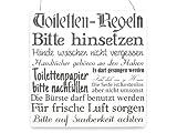 Interluxe XL Shabby Vintage Schild Türschild TOILETTEN Regeln Bad WC Dekoration Holzschild Weiss