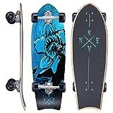 Revon Canadian Maple Cruiser Fish Kick Tail Skateboard mit ABEC 9, Komplettboard aus hochwertigen 7...