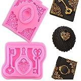 valink 2piece Vintage-Schlüssel Grenze Brosche Diamant Weihnachten gumpaste Schokolade Candy...