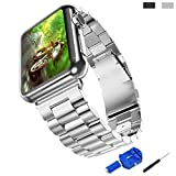 Apple Watch Band,iitee Edelstahl Armband Steel Handgelenk Band Link Armband Mit Connector Apple...