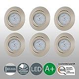 LED Einbaustrahler Schwenkbar Ultra Flach Inkl. 6 x 5W LED Modul 230V IP23 LED Deckenstrahler...