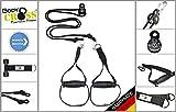 BodyCROSS PREMIUM Schlingentrainer mit Umlenkrolle | inkl. Übungsposter, 10-Wochen Trainingsplan,...