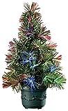 Lunartec Mini Weihnachtsbaum: LED-Weihnachtsbaum mit Glasfaser-Farbwechsler (Mini LED...